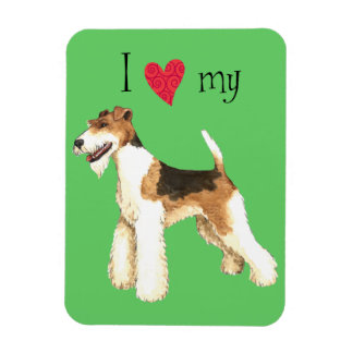 I Love my Wire Fox Terrier Magnet