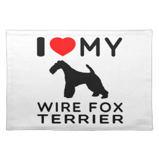 I Love My Wire Fox Terrier Placemat