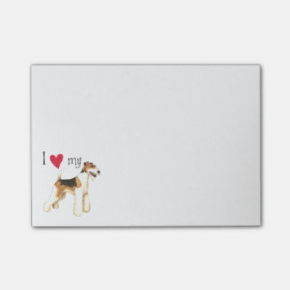 I Love my Wire Fox Terrier Post-it® Notes