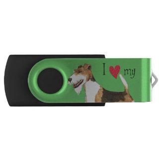 I Love my Wire Fox Terrier USB Flash Drive