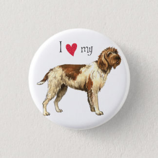 I Love my Wirehaired Pointing Griffon 1 Inch Round Button