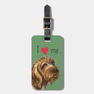 I Love my Wirehaired Pointing Griffon Luggage Tag