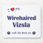 I Love My Wirehaired Vizsla (Female Dog) Mouse Mats