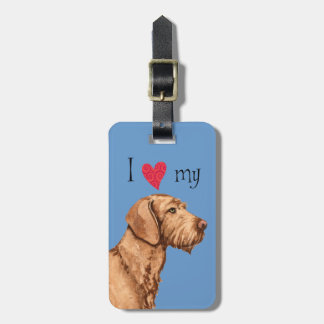 I Love my Wirehaired Vizsla Luggage Tag