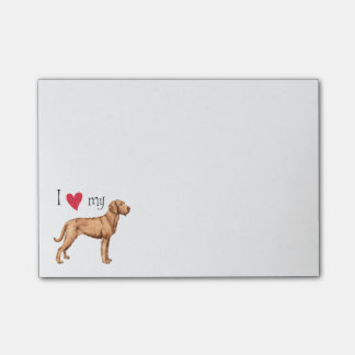 I Love my Wirehaired Vizsla Post-it Notes