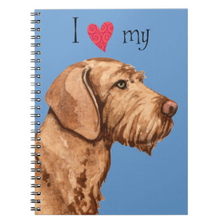 I Love my Wirehaired Vizsla Spiral Notebooks