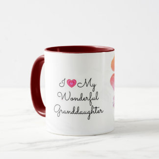 I Love My Wonderful Granddaughter, pastel design Mug