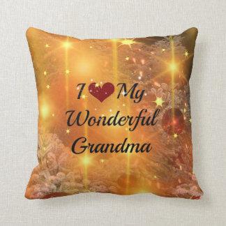 I Love My Wonderful Grandma, Christmas Sparkle Throw Pillow