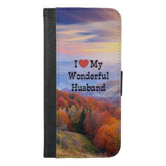 I Love My Wonderful Husband, Sunrise Landscape iPhone 6/6s Plus Wallet Case
