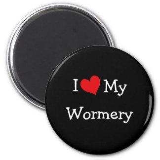 I Love My Wormery 2 Inch Round Magnet