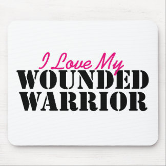 I Love My Wounded Warrior Mouse Pad