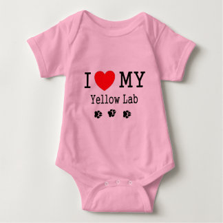 I Love My Yellow Lab Baby Bodysuit