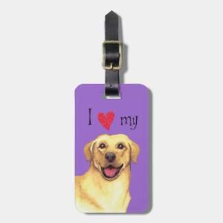 I Love my Yellow Lab Luggage Tag