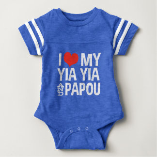 I Love My Yia Yia and Papou Baby Bodysuit