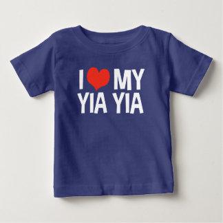 I Love My Yia Yia Baby T-Shirt
