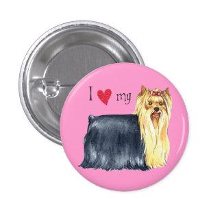 I Love my Yorkie 1 Inch Round Button