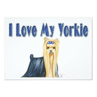 I Love My Yorkie Art Dog Print Card