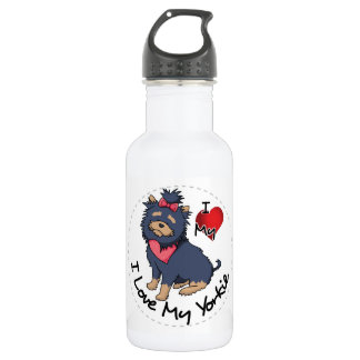 I Love My Yorkie Dog 532 Ml Water Bottle