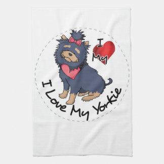 I Love My Yorkie Dog Kitchen Towel