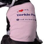 I Love My Yorkie Poo (Female Dog) Pet T-shirt