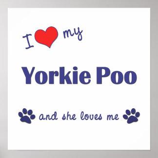 I Love My Yorkie Poo (Female Dog) Poster