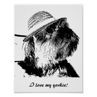 I love my yorkie! Value Poster