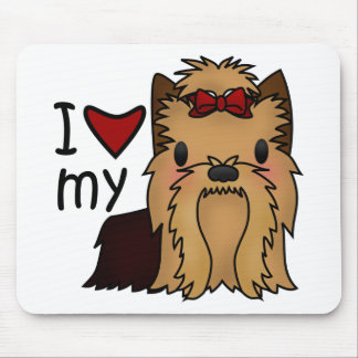 I Love My Yorkie, Yorkshire Terrier Mouse Pad
