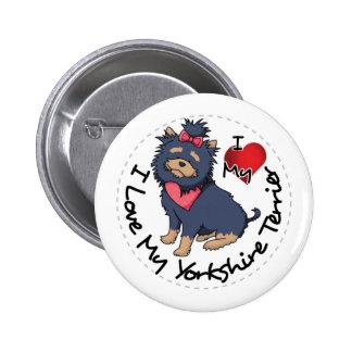 I-Love-My-Yorkshire-Terrier 2 Inch Round Button