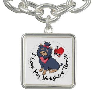I-Love-My-Yorkshire-Terrier Charm Bracelet
