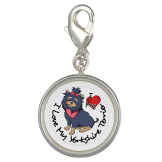 I-Love-My-Yorkshire-Terrier Charms