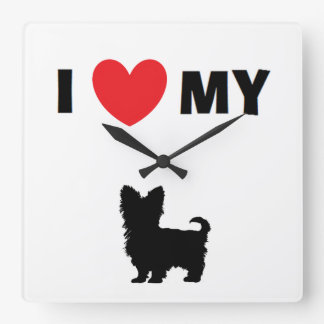 """I Love My Yorkshire Terrier"" Clock"