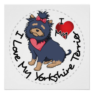 I-Love-My-Yorkshire-Terrier Perfect Poster