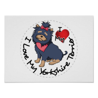 I-Love-My-Yorkshire-Terrier Poster