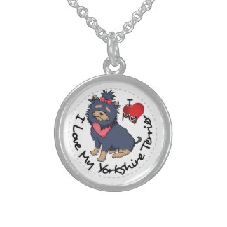 I-Love-My-Yorkshire-Terrier Sterling Silver Necklace