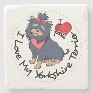 I-Love-My-Yorkshire-Terrier Stone Coaster