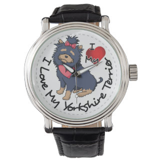 I-Love-My-Yorkshire-Terrier Wristwatches