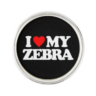 I LOVE MY ZEBRA LAPEL PIN