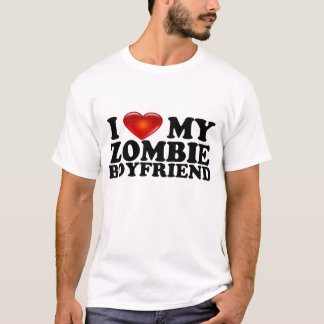 I Love My Zombie BF Shirt