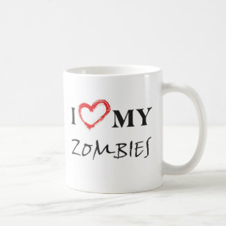 I love my zombies coffee mug