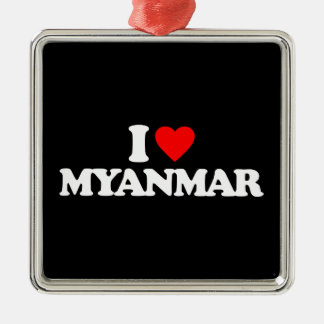 I LOVE MYANMAR CHRISTMAS TREE ORNAMENT