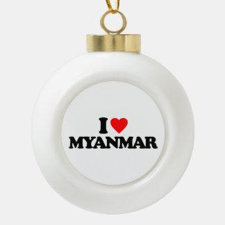 I LOVE MYANMAR ORNAMENTS