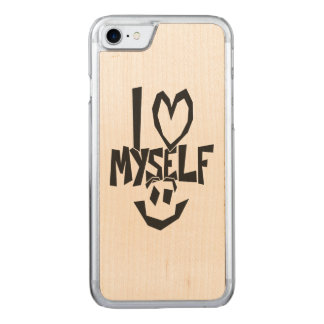 I love myself Smiley Carved iPhone 7 Case