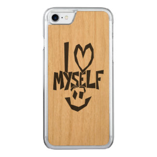 I love myself Smiley Carved iPhone 8/7 Case