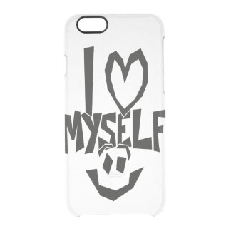 I love myself Smiley Clear iPhone 6/6S Case