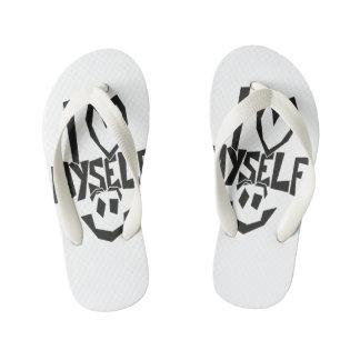 I love myself Smiley Kid's Flip Flops