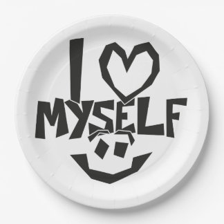 I love myself Smiley Paper Plate