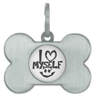 I love myself Smiley Pet Name Tags