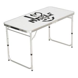 I love myself Smiley Pong Table