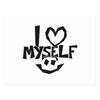 I love myself Smiley Postcard