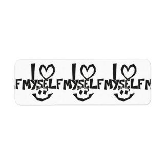 I love myself Smiley Return Address Label